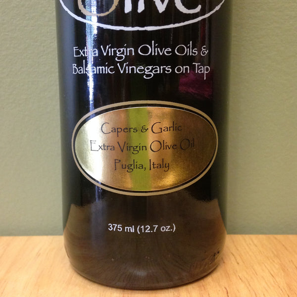 Capers and Garlic Extra Virgin Olive Oil - A Taste of Olive - 3