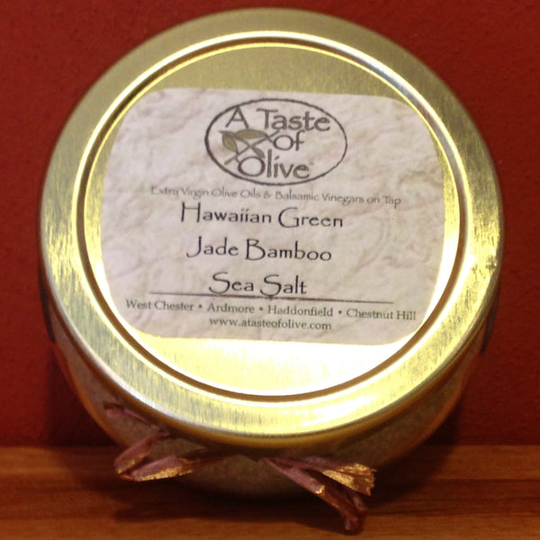Hawaiian Green Jade Bamboo Sea Salt - A Taste of Olive - 1
