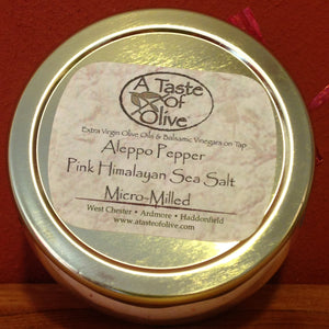 Aleppo Pepper Pink Himalayan Sea Salt - A Taste of Olive