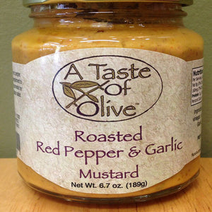 Roasted Red Pepper & Garlic Mustard - A Taste of Olive