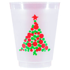 Pre-Printed Frost-Flex Cups<br> Christmas Tree