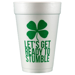 Pre-Printed Styrofoam Cups<br> Ready to Stumble