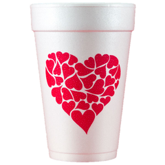 Pre-Printed Styrofoam Cups<br> Heart of Hearts