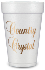 Pre-Printed Styrofoam Cups<br> Country Crystal (gold)
