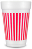Pre-Printed Styrofoam Cups<br> Stripes (red)