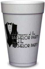 Pre-Printed Styrofoam Cups<br> Bachelor Party
