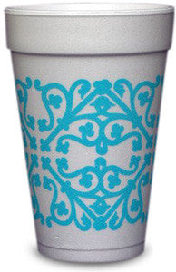 Pre-Printed Styrofoam Cups<br> Patterns (tiffany blue)