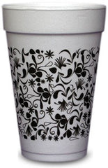 Pre-Printed Styrofoam Cups<br> Patterns (black)