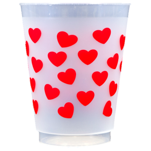 Pre-Printed Frost-Flex Cups<br> Hearts (red)
