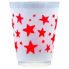 Pre-Printed Frost-Flex Cups<br> Stars (red)