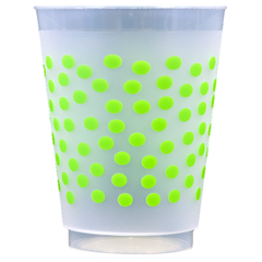 Pre-Printed Frost-Flex Cups<br> Polka Dots (lime)