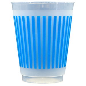 Pre-Printed Frost-Flex Cups<br> Stripes (blue)