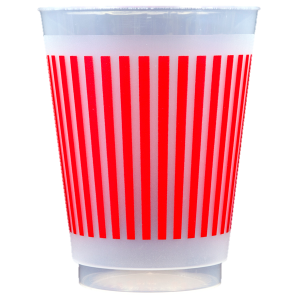 Pre-Printed Frost-Flex Cups<br> Stripes (red)