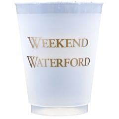 Pre-Printed Frost-Flex Cups<br> Weekend Waterford (gold)