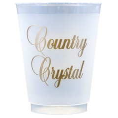 Pre-Printed Frost-Flex Cups<br> Country Crystal (gold)