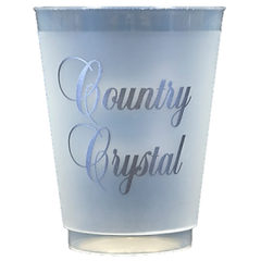 Pre-Printed Frost-Flex Cups<br> Country Crystal (silver)