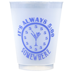 Pre-Printed Frost-Flex Cups<br> It's Always 5:00 Somewhere (purple)
