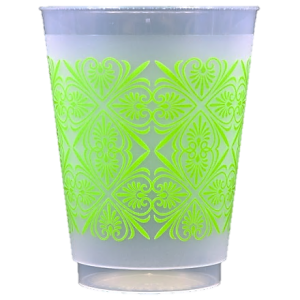 Pre-Printed Frost-Flex Cups<br> Patterns (lime)