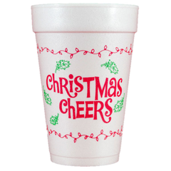 Pre-Printed Styrofoam Cups<br> Christmas Cheers
