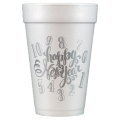 Pre-Printed Styrofoam Cups<br> Happy New Year!