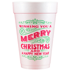 Pre-Printed Styrofoam Cups<br> Wishing You
