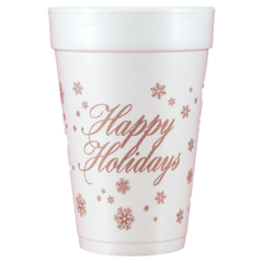 Pre-Printed Styrofoam Cups<br> Happy Holidays