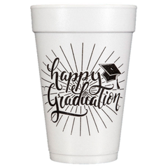 Pre-Printed Styrofoam Cups<br> Happy Graduation