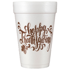 Pre-Printed Styrofoam Cups<br> Happy Thanksgiving
