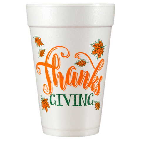 Pre-Printed Styrofoam Cups<br> Thanks Giving