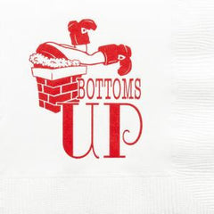 Pre-Printed Beverage Napkins<br> Bottoms Up