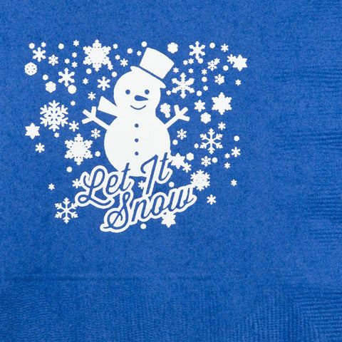 Pre-Printed Beverage Napkins<br> Let It Snow