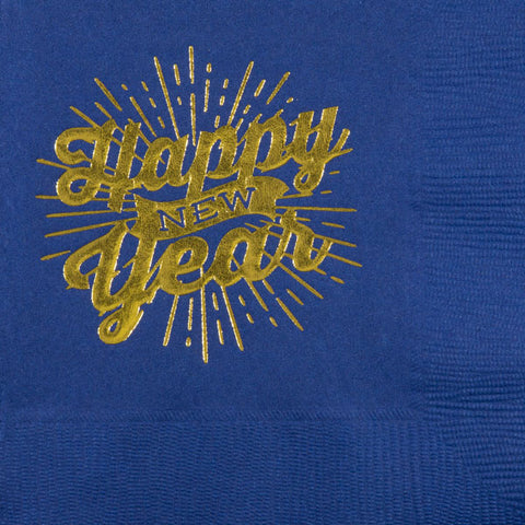 Pre-Printed Beverage Napkins<br> Happy New Year Banner
