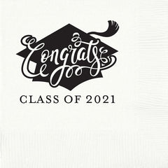 Pre-Printed Beverage Napkins<br> Congrats Class of 2019