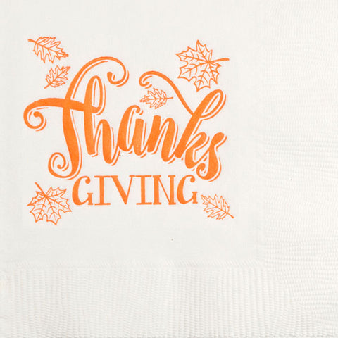 Pre-Printed Beverage Napkins<br> Thanks Giving
