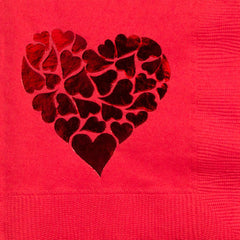 Pre-Printed Beverage Napkins<br> Heart of Hearts
