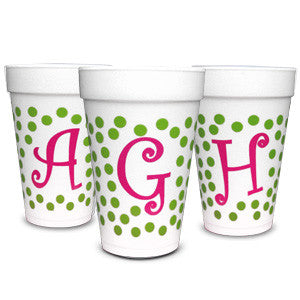 Pre-Printed Styrofoam Cups<br> Dots Initial
