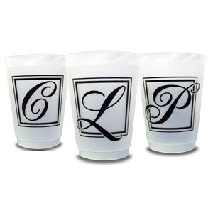 Pre-Printed Frost-Flex Cups<br> Majestic Initial