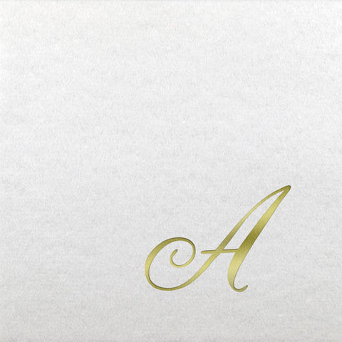 Pre-Printed Beverage Napkins<br> Linun Initial (Quill)