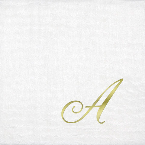 Pre-Printed Beverage Napkins<br> Masslinn Initial (Quill)