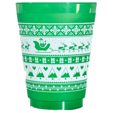 Pre-Printed Frost-Flex Cups<br> Christmas Pattern