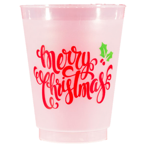 Pre-Printed Frost-Flex Cups<br> Merry Christmas Script