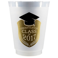 Pre-Printed Frost-Flex Cups<br> Congratulations Class of 2017