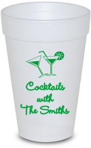 Custom 16 oz Styrofoam Cups - Limelight Paper