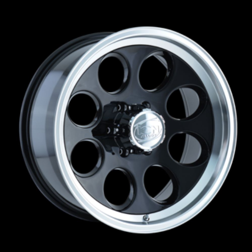 Roue en aluminium neuve ION 171 BLACK/MACHINED LIP  171-7973B / Dimensions : 17x9 / Boulons : 5x127mm