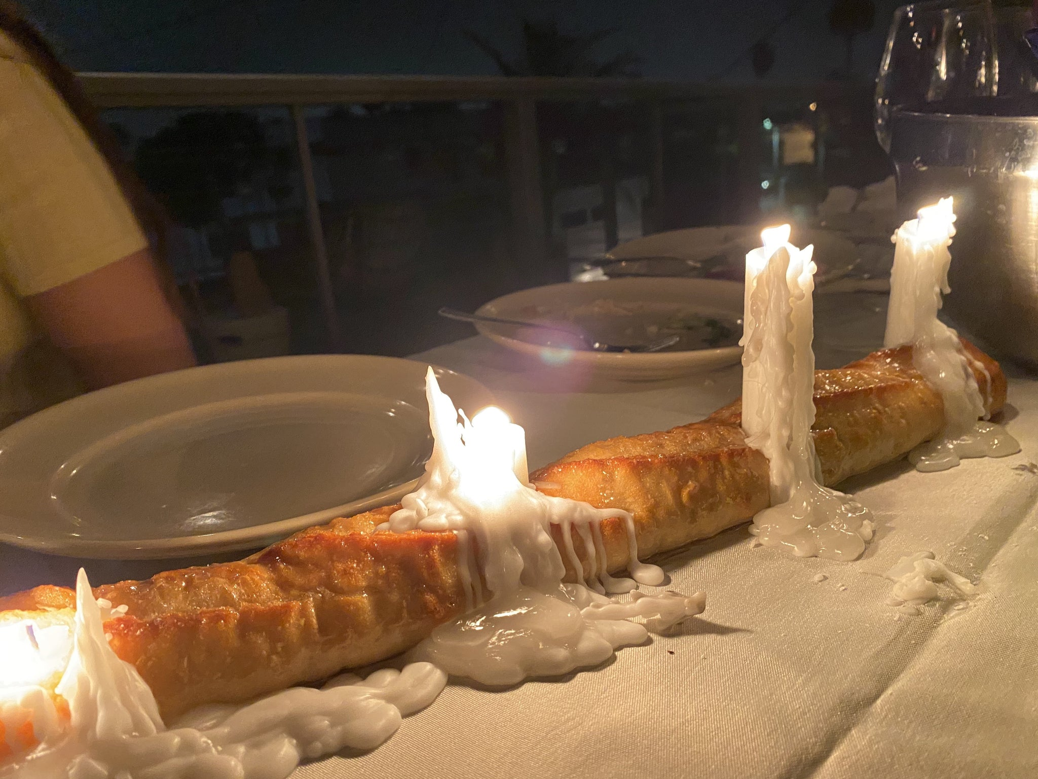 dadybones Bread Baguette Candle Holder