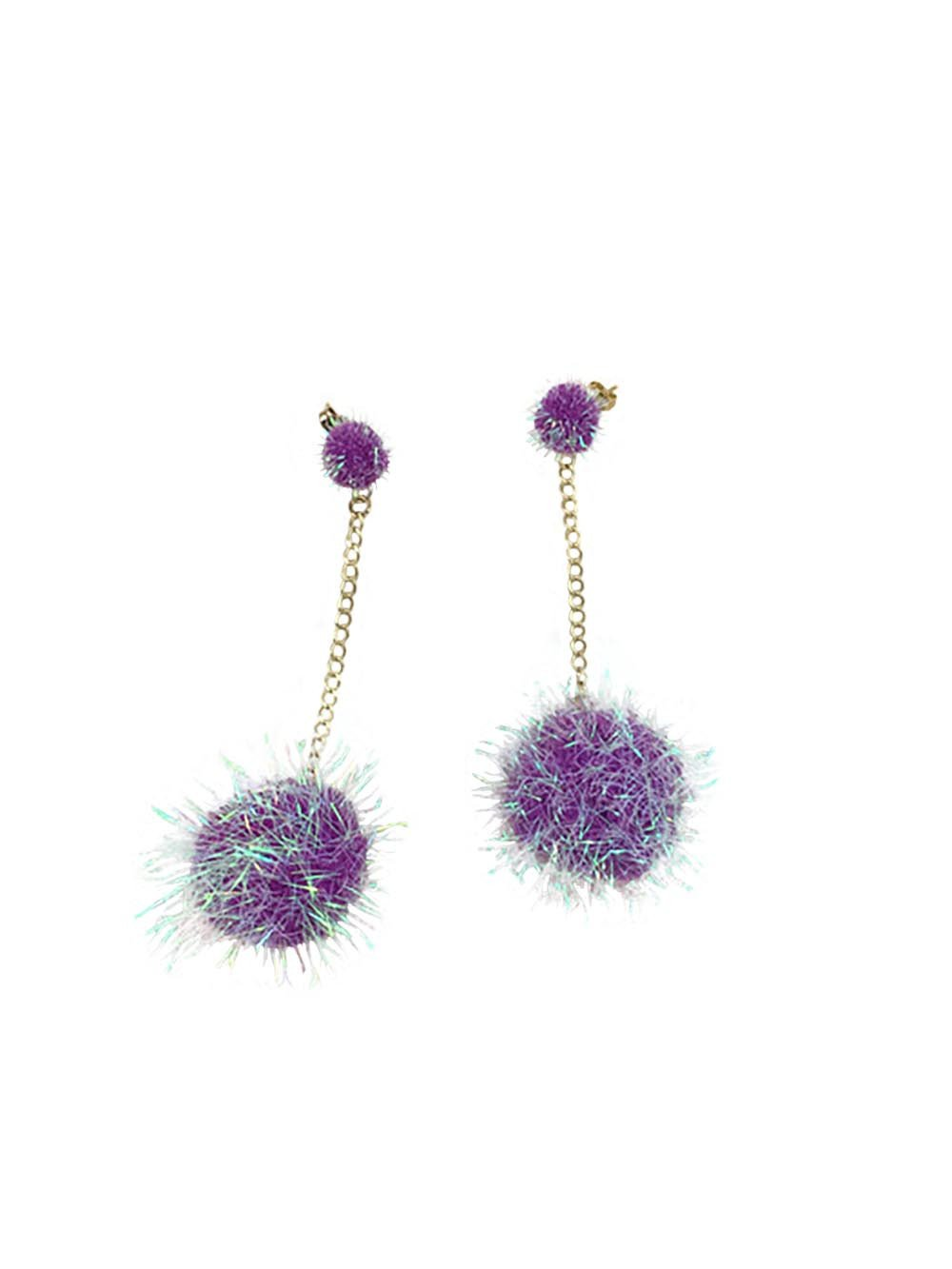 Puff Ball Earrings