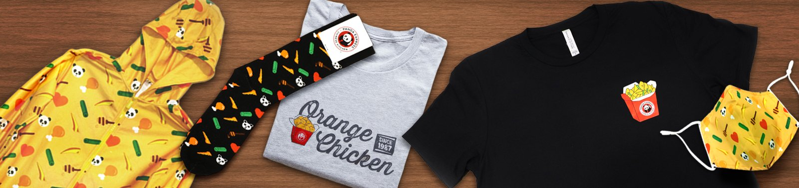Mugs, Shirts, Onesies and more at the Panda Express Swag Shop