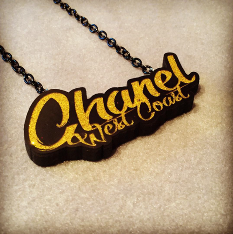 Iced out chain for Chanel West Coast by Big Head Custom