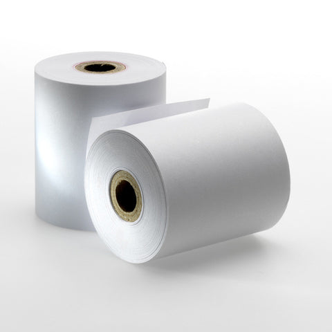 Woodfree 1-Ply Paper Roll, 100 rolls/ case - OrderPaper.sg