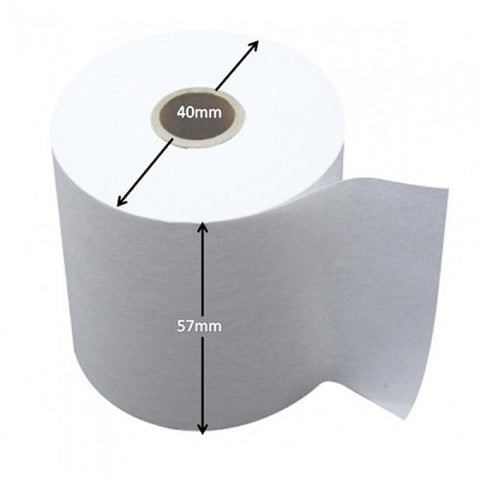 57x40mm Thermal Paper Rolls, 100 rolls/ case for NETS/ Credit Card Terminals - OrderPaper.sg - 1